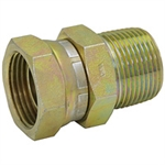 "1"" NPT Male x 3/4"" NPT Female Swivel Straight 1404-16-12 Adapter"