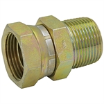 "1/4"" NPT Male x 3/8"" NPT Female Swivel Straight 1404-04-06 Adapter"