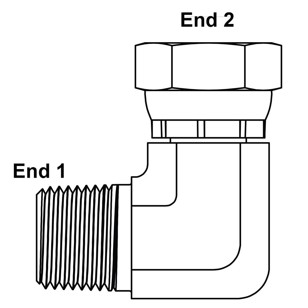 "Details about  /3//4/"" NPT Male x 3//4/"" NPT Female Swivel 45 Degree Elbow Adapter 9-1503-12-12"
