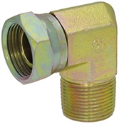 "1/4"" NPT Male x 1/4"" NPT Female Swivel 90 Degree Elbow 1501-04-04 Adapter"