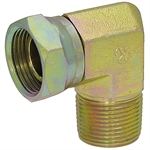 "1/4"" NPT Male x 3/8"" NPT Female Swivel 90 Degree Elbow 1501-04-06 Adapter"