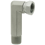 "3/8"" NPT Male x 3/8"" NPT Female Swivel 90 Degree Elbow 1501-L-06-06 Adapter"