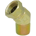 "1/2"" NPT Male x 3/8"" NPT Female Swivel 45 Degree Elbow 1503-08-06 Adapter"