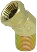 "1/2"" NPT Male x 1/2"" NPT Female Swivel 45 Degree Elbow 1503-08-08 Adapter"