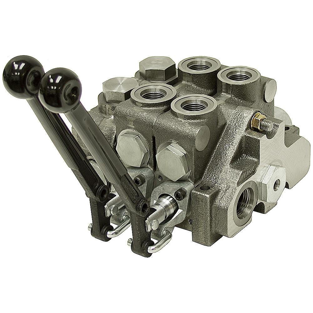 2 spool prince 20 series valve w load sense stack valves for Hydraulic motor spool valve