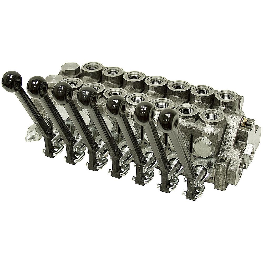 7 spool 20 series prince stack valve power beyond stack for Hydraulic motor spool valve