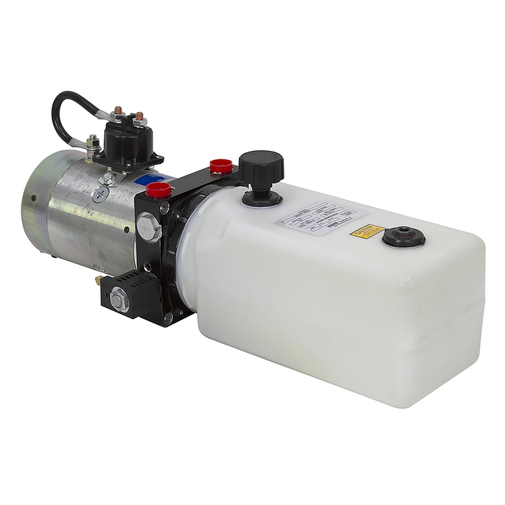 2.5 Gallon Polly Tank Hydraulic Power Unit 12V DC Double Acting Solenoid Operated 2850//1500 PSI High Flow with Remote Control 253150