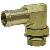 "1/4"" Hosebarb x SAE 4 Male 90 Degree Elbow 4601-04-04 Adapter"