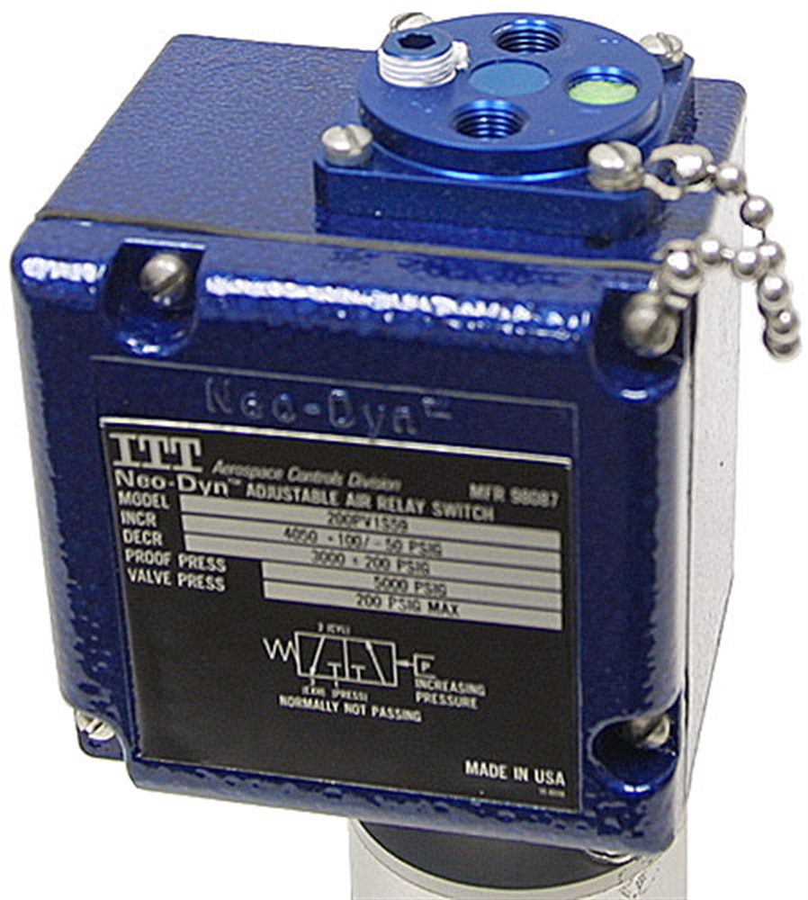 Hydraulic To Pneumatic Air Relay Pressure Switch