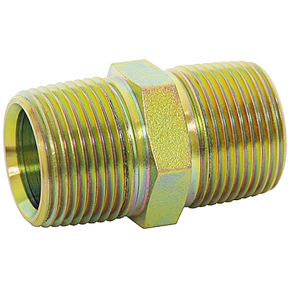 """1 x New Brass NPT 1//4/"""" x 1//4/"""" Male Hex Nipple Straight Connector Adapter Fitting"""