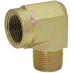 "1/4"" NPT Male x 3/8"" NPT Female 90 Degree Elbow 5502-04-06 Adapter"