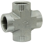 "1/2"" NPT Female x 1/2"" NPT Female x 1/2"" NPT Female x 1/2"" NPT Female Cross 5652-08-08-08-08 Adapter"
