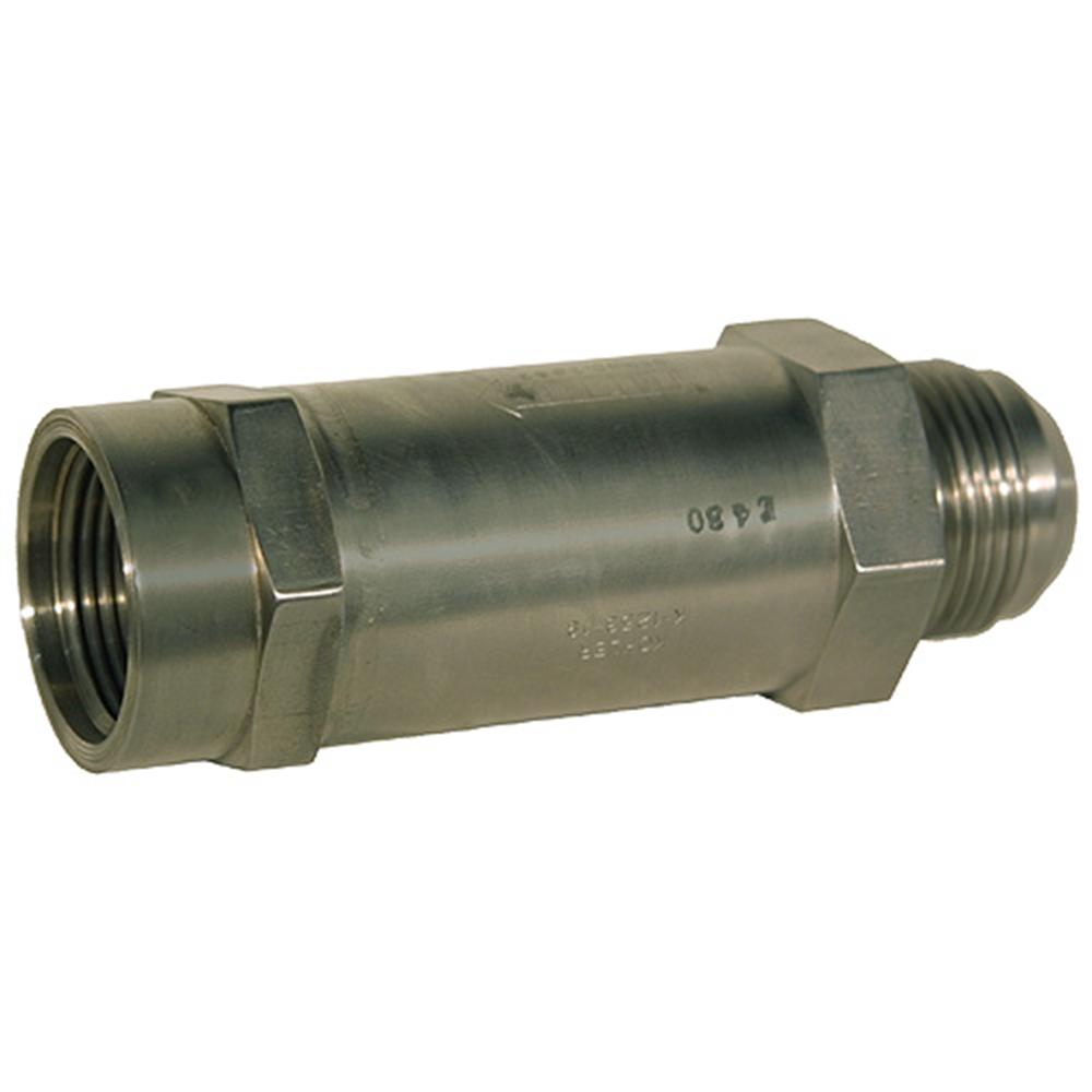 Sae f jic m check valve lock valves
