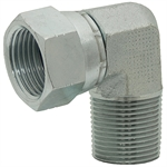 "JIC 4 Female Swivel x 1/4"" NPT Male 90 Degree Elbow 6501-04-04 Adapter"