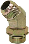 JIC 12 Male x SAE 10 Male 45 Degree Elbow 6802-12-10 Adapter