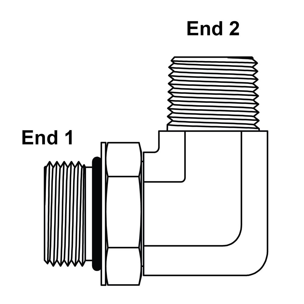 6900-16-16 Hydraulic Adapter 1 Male BOSS X 1 Female Pipe Swivel Carbon Steel