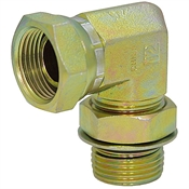 "SAE 12 Male x 1"" NPT Female Swivel 90 Degree Elbow 6901-12-16 Adapter"