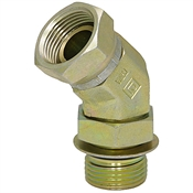 "SAE 4 Male x 1/4"" NPT Female Swivel 45 Degree Elbow 6902-04-04 Adapter"
