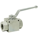 "3/8"" NPT Carbon Steel 7250 PSI Ball Valve"