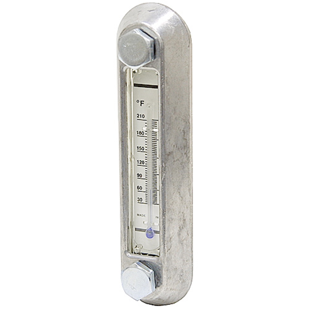 """5"""" Reservoir Sight Level Gauge W Thermometer"""