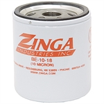 10 Micron Replacement Element w/18 PSI Bypass Zinga BE1018