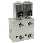 SAE 12 15 GPM Double Selector Valve 12 Volt DC P15438-2