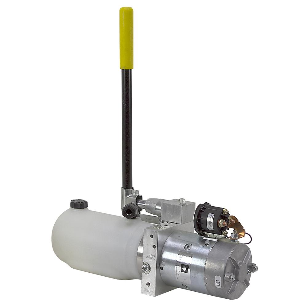 Electric Hydraulic Pump >> 12 Volt DC Power Pack w/Hand Pump   DC Power Units   Hydraulic Power Units   Hydraulics   www ...