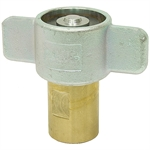 "1"" NPT Brass Wing-Nut Quick Coupler Body Only"