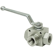 1-1/2 NPT Carbon Steel 4500 PSI 3-Way Ball Valve