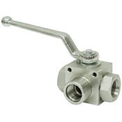 SAE 8 Carbon Steel 5145 PSI 3-Way Ball Valve