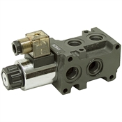 12/24 Volt DC 13.2 GPM SAE 8 Solenoid Operated Double Selector Valve