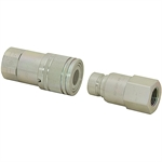 "1"" NPT Flush Face Quick Coupler Set ISO 16028"