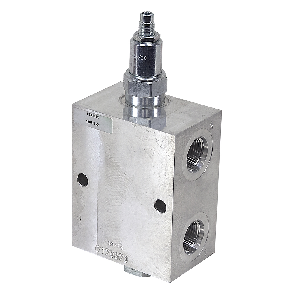 Sae 12 30 gpm hyd motor relief bypass valve relief for Hydraulic motor control valve