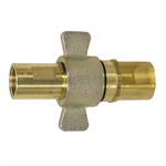 "1"" NPT Brass Wing-Nut Quick Coupler Pair"