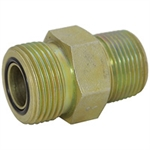 "ORFS 6 Male x 3/8"" NPT Male Straight FF2404-06-06 Adapter"