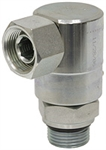 "3/8"" NPTF x SAE 6M Live Swivel 90 Elbow"