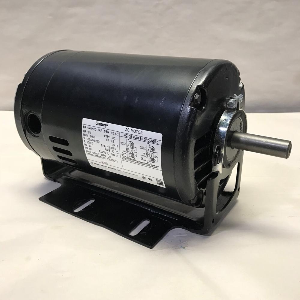 3/4 HP 115/208-230 Volt AC 3450 RPM Motor Century C48K2C11A7